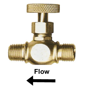 "1/4"" Brass Needle Valve (MNPT x Welding)"