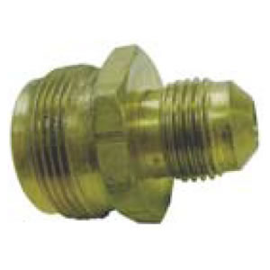 "Male Disposable Cylinder Adapter x 3/8"" Male Flare"