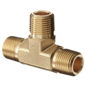 Brass Tee - Male Pipe Thread
